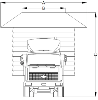 High Load Diagram - House on truck with dimensions